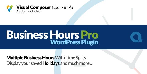 Business Hours Pro WordPress Plugin v5.1