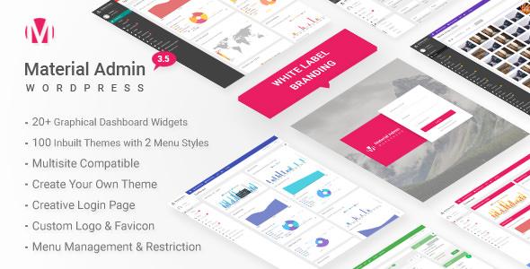 Material v3.5 – White Label WordPress Admin Theme