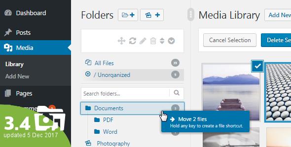 WP Real Media Library v3.4.3 – Media Categories / Folders