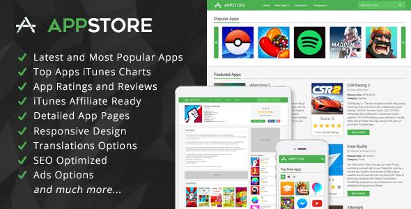 AppStore – iOS Apps Affiliate Script