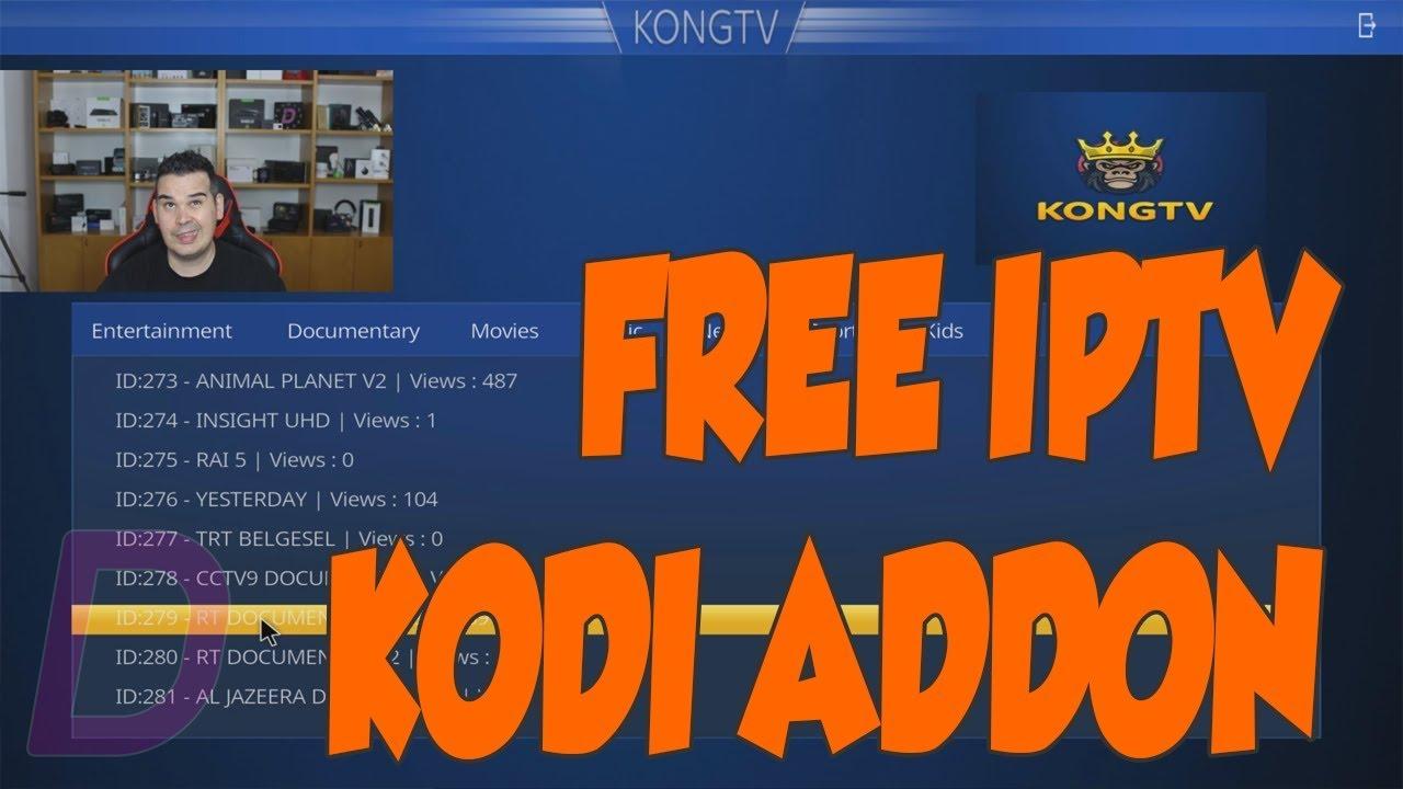 NEW FREE IPTV ADDON ON KODI! KONG TV ADDON