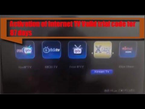تلفاز انترنت كود تجريبي صالح لمدة 87 يوم (IPTV Valid trial code for
