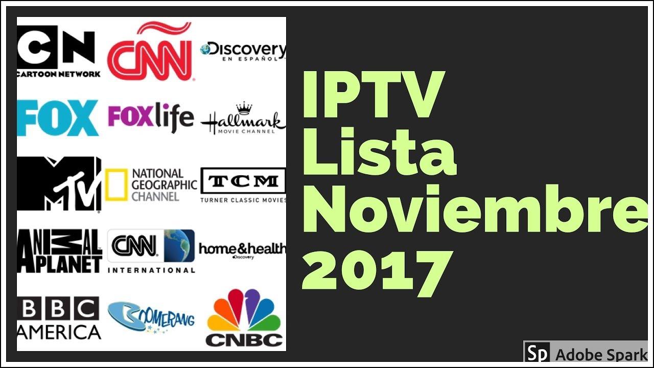 Mejor lista m3u noviembre 2017 por paises iptv latino calidad hd canales premium mundial