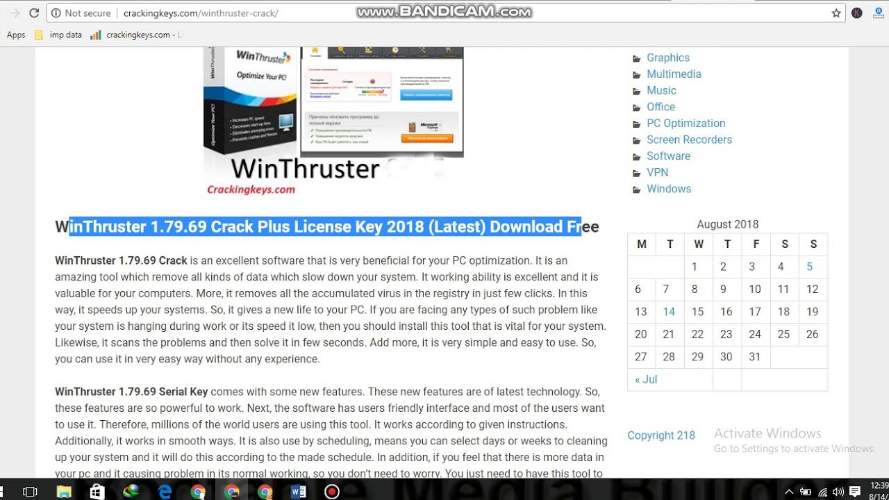 WinThruster - 1.79.69 Crack + License Key {2018} Latest ...