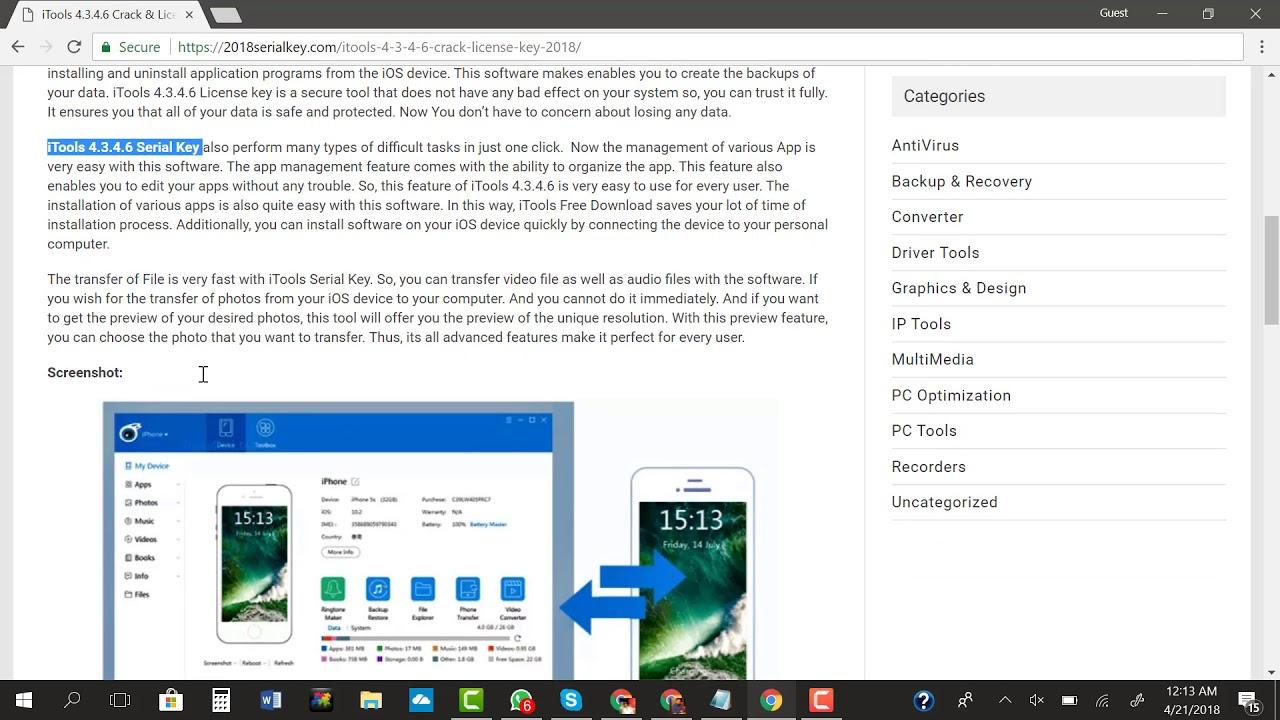 iTools 4.4.2.7 Crack + License Key 2019 Free Download