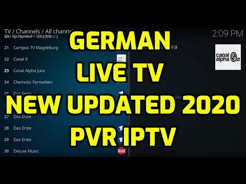 Free German Live TV on Kodi 2020 PVR IPTV Simple Client M3U URL