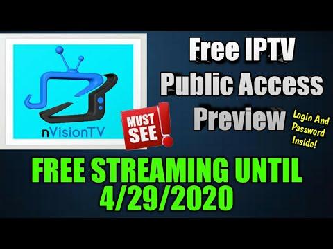 IPTV Public Free Access – nVisiontv Providing  Free Test Line To The Public! – Free IPTV Service!