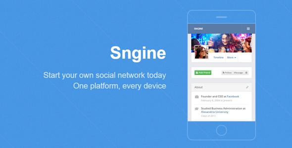 Sngine v2.5.1 – The Ultimate PHP Social Network Platform