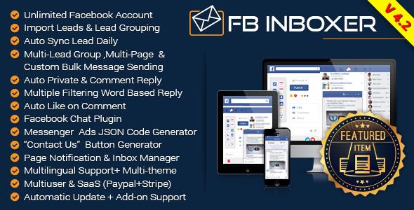 FB Inboxer v4.2 – Master Facebook Messenger Marketing Software