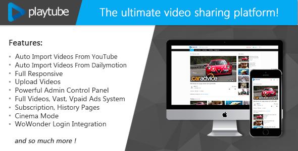 PlayTube v1.3 – The Ultimate PHP Video CMS & Video Sharing Platform
