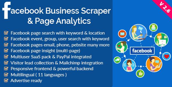 Facebook Business Scraper & Page Analytics v2.6