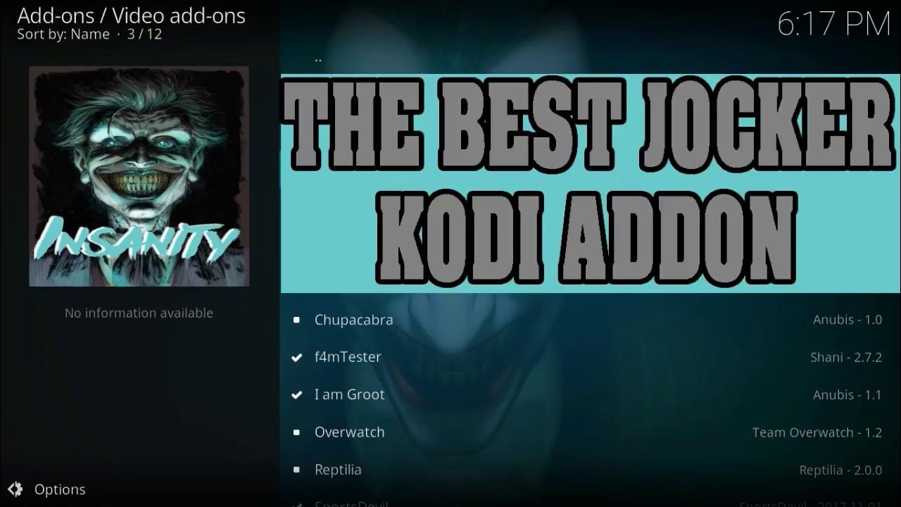 THE BEST JOCKER ADDON FOR MOVIES ON KODI 17.6 – 2018