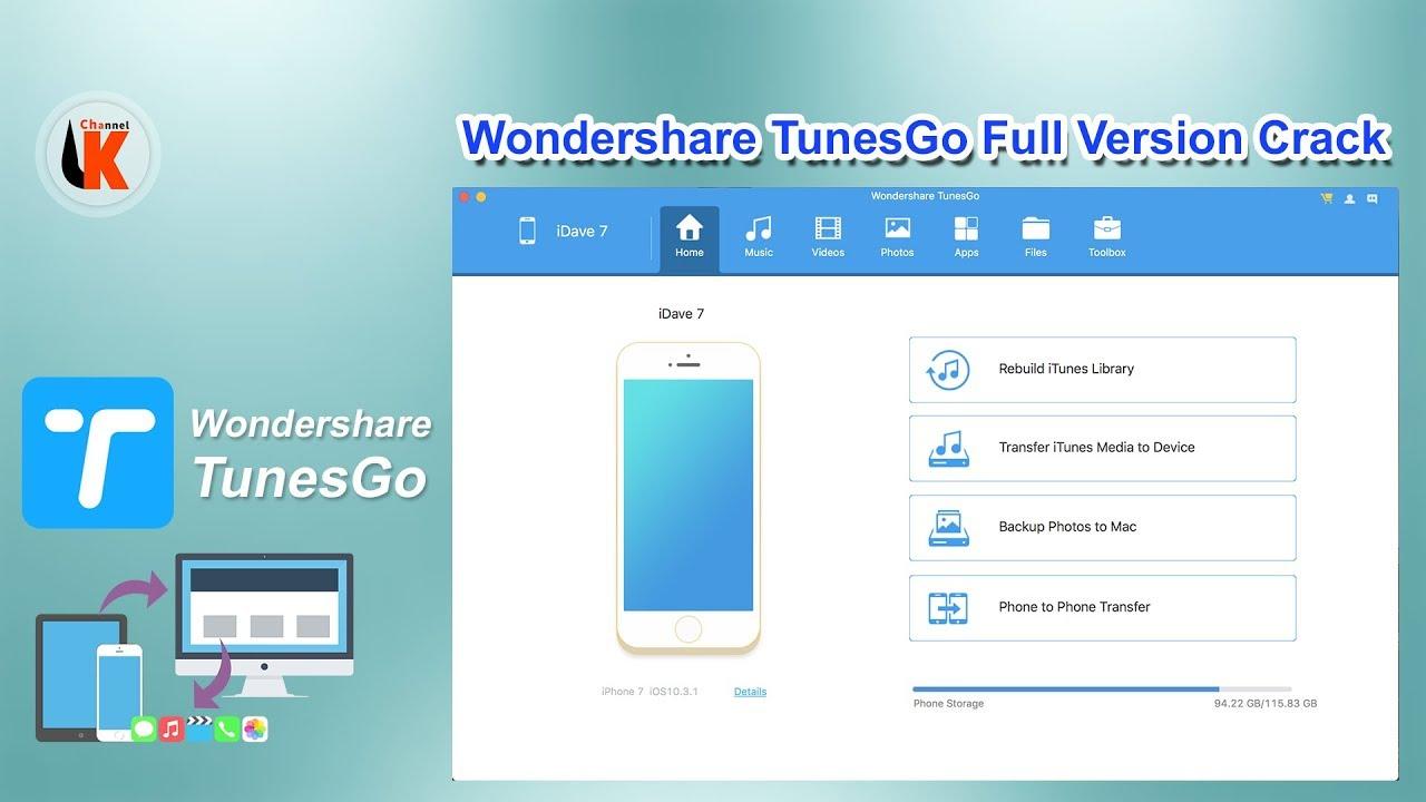 How to download & Install Wondershare TunesGo ( Full Version Crack )