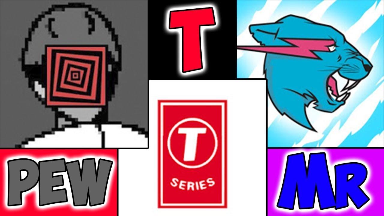 PewDiePie vs MrBeast vs T-Series | WHO TOP YOUTUBER?! | Stream pewdiepie / t-series / mrbeast